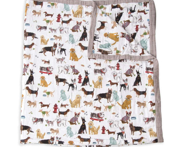 Little Unicorn | Big Kid Muslin Quilt ~ Woof