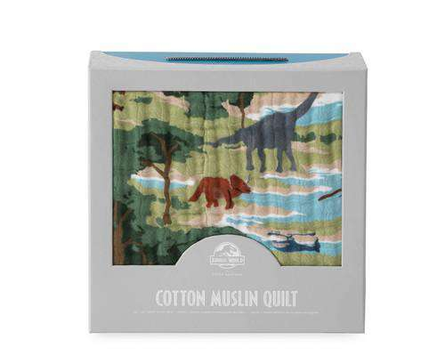 Little Unicorn + Jurassic World | Cotton Muslin Quilt ~ Jurassic World