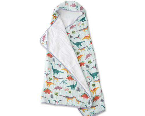 Little Unicorn + Jurassic World | Big Kid Hooded Towel ~ Embroidosaurus