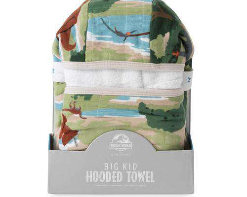 Little Unicorn + Jurassic World | Big Kid Hooded Towel ~ Jurassic World