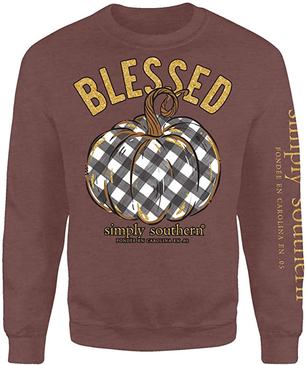 Simply Southern Crew Neck Sweatshirt ~ Blessed