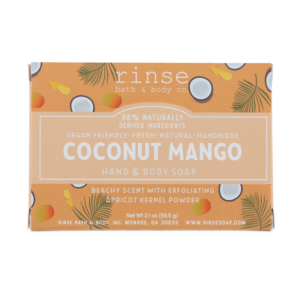 Rinse Bath Body Inc | Mini Coconut Mango Soap Bar