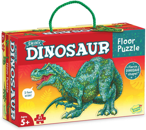 Peaceable Kingdom ~ Shiny Dinosaur Floor Puzzle