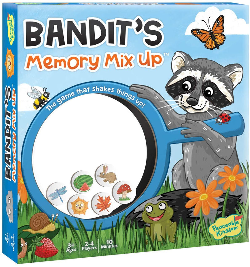 Peaceable Kingdom | Board Games ~ Bandit's Memory Mix Up