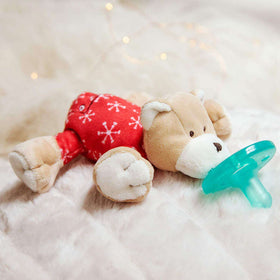 WubbaNub Pacifier | Red Pajama Bear