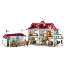 Schleich | Horse Club ~ LARGE HORSE STABLE WITH HOUSE AND STABLE