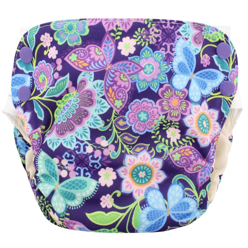 Blueberry Organic Simplex All-In-One Diaper | Side Snap Medium