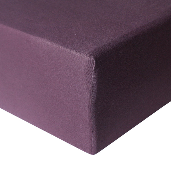 Copper Pearl | Premium Knit Fitted Crib Sheet ~ Plum