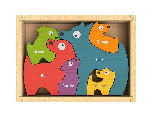 Begin Again Toys | Dog Family Color Puzzle