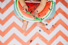 Multi-Purpose CatchAll - Chevron Orange / Coral