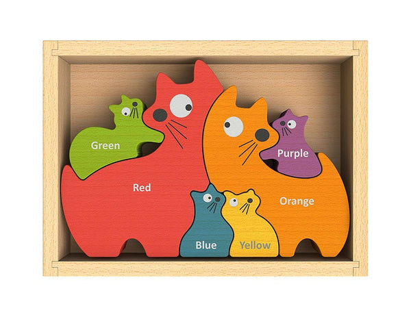 Begin Again Toys | Cat Family Color Puzzle