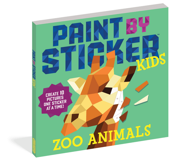 Paint by Sticker Kids ~ Zoo Animals