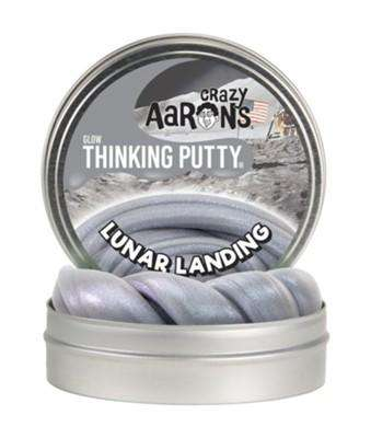 Crazy Aaron's Thinking Putty | Limited Edition ~ Glow Lunar Landing
