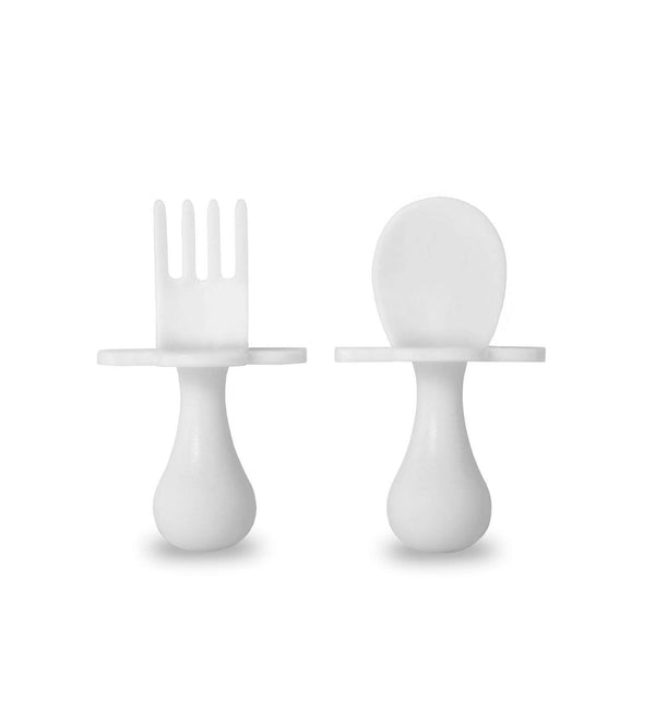 Grabease | First Self Feeding Utensil Set ~ White