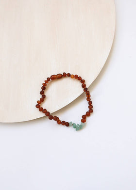 CanyonLeaf Raw Cognac + Aventurine  | Necklace