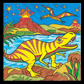 Faber - Castell | Color By Number ~ T Rex Foil Fun