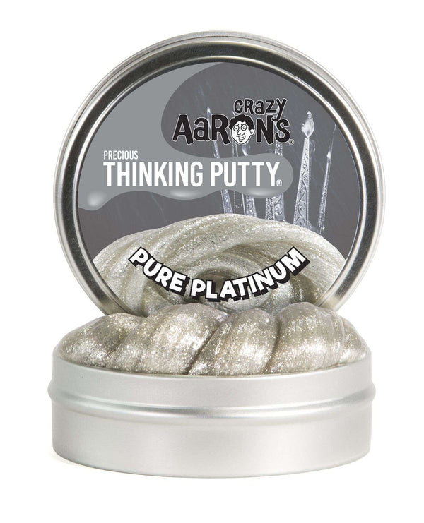 Crazy Aaron's Thinking Putty | Precious Gems ~ Pure Platinum 1.6 oz