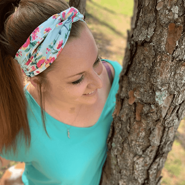 Bumblito | Adult Headband ~ Aqua Floral