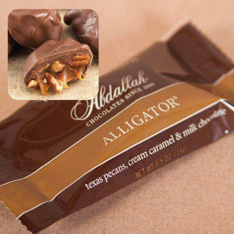 Abdallah Chocolate ~ 10 Piece Sea Salt Almond Alligator