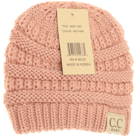 CC Beanie | Baby Solid ~ Indie Pink