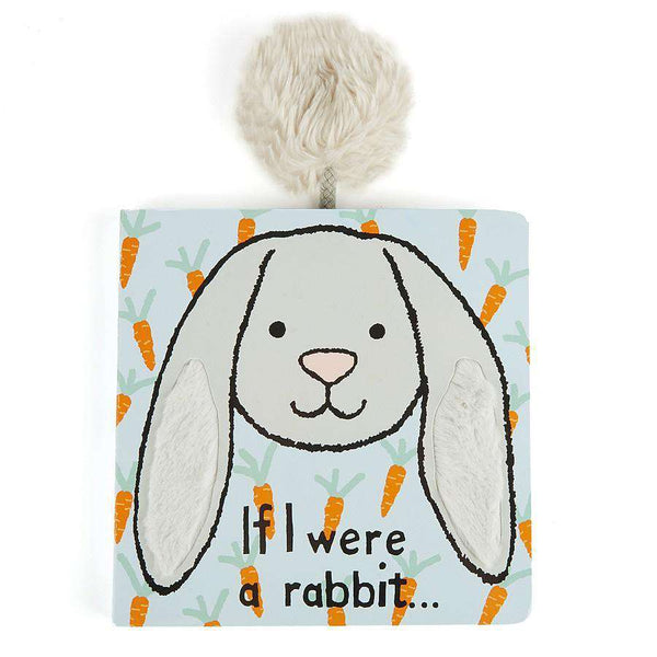 Jellycat If I Were a Rabbit Board Book (Grey)