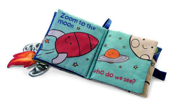 Jellycat Zoom To The Moon & Back Fabric Activity Book
