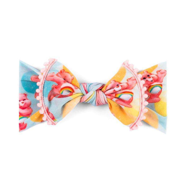 Baby Bling Bows | Care Bears Collection ~Trimmed Printed Knot Pastel Bubble