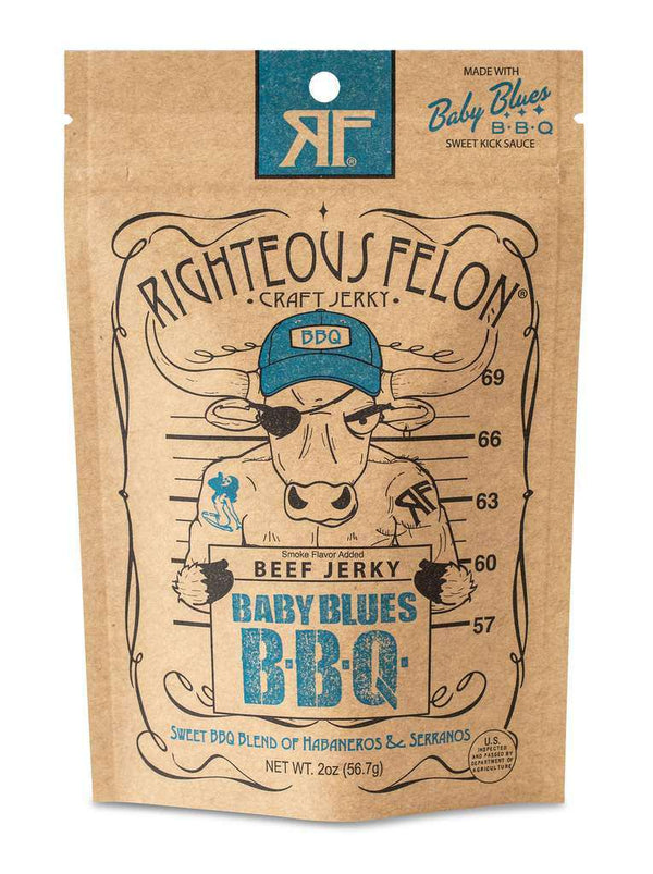 Righteous Felon Craft Jerky  - Baby Blues BBQ Beef Jerky