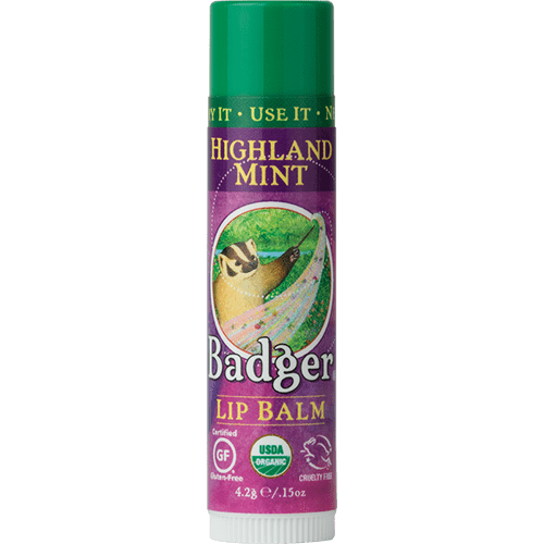 Badger Healthy Body Care ~ Classic Organic Lip Balm - Highland Mint