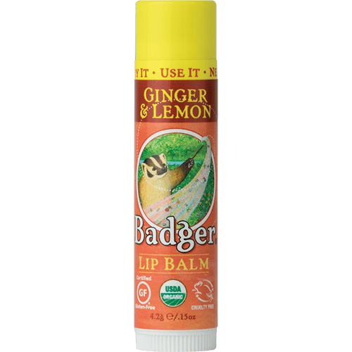 Badger Healthy Body Care ~ Classic Organic Lip Balm - Ginger & Lemon