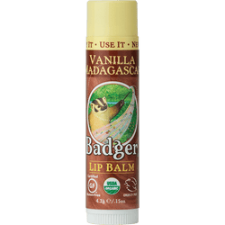 Badger Healthy Body Care ~ Classic Organic Lip Balm - Vanilla Madagascar