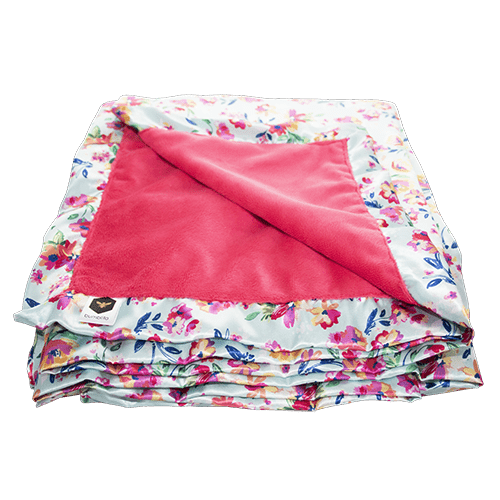 Bumblito | Bee Luxe Blankets | Aqua Floral