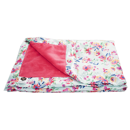 Bumblito | Baby Bee Luxe Blanket | Aqua Floral