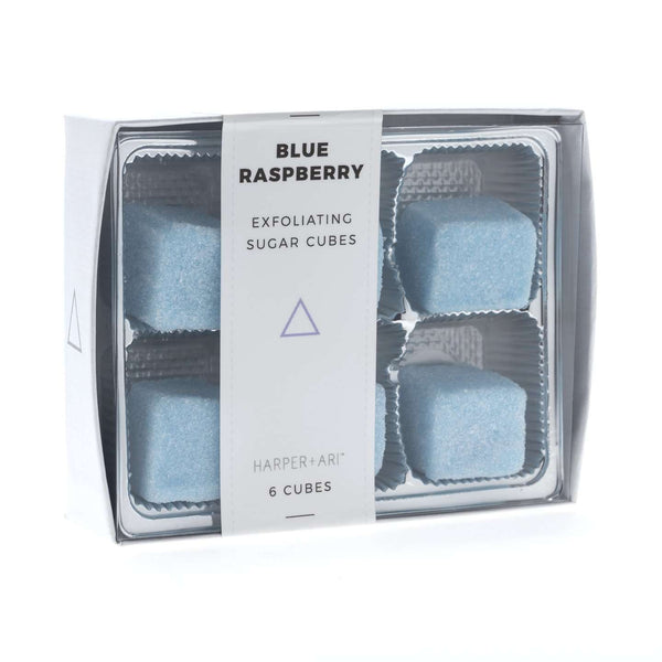 Harper + Ari | Exfoliating Sugar Cubes - Blue Raspberry Gift Box