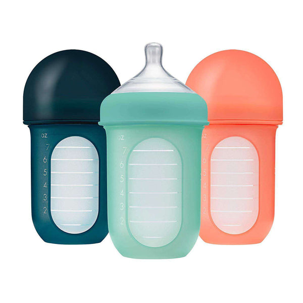 Boon | NURSH SILICONE POUCH BOTTLE - 3 PACK Teal