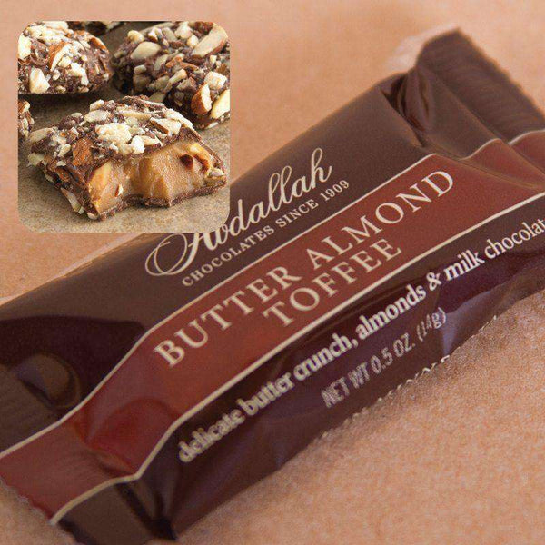 Abdallah Chocolate ~ 10 Piece Butter Almond Toffee