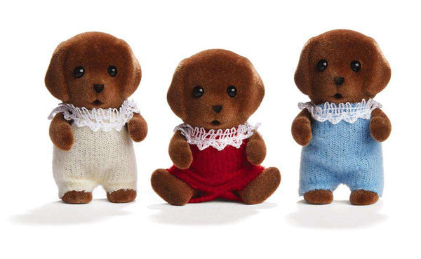 Calico Critters | Triplets ~ Chocolate Labrador