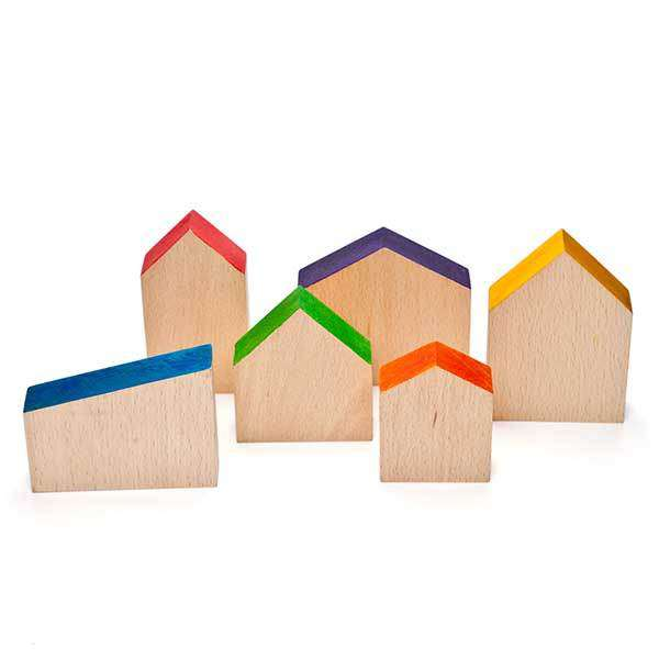 Grapat | Wooden Houses Play Set