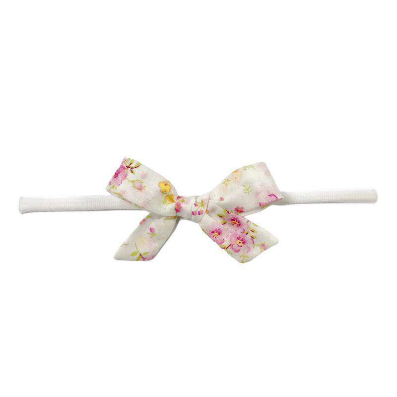 Baby Bling Bows | Cotton Print Bow Headband ~ Pink Floral