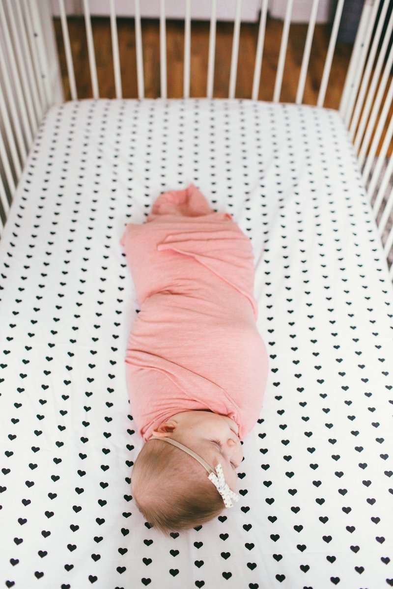 Copper Pearl | Premium Knit Fitted Crib Sheet ~ Smitten