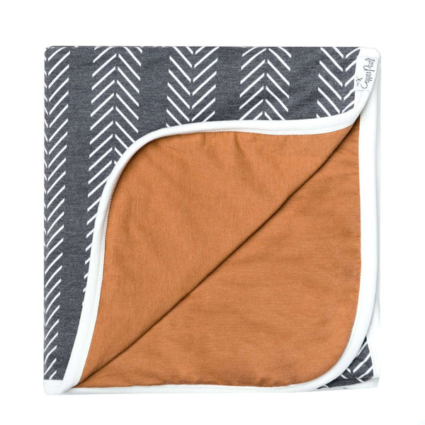 Copper Pearl | Three-Layer Baby Quilt ~ Canyon
