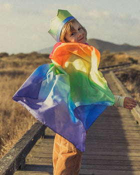 Sarah's Silks | Silk Cape In Rainbow