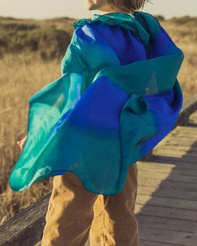 Sarah's Silks | Silk Cape In Ocean