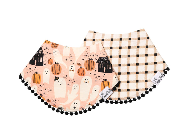 Copper Pearl | Fashion Trimmed Bibs 2 Pack ~ Casper