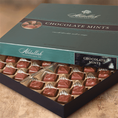 Abdallah Chocolate | Boxed Chocolate Selection ~ Chocolate Mints *Final Sale*