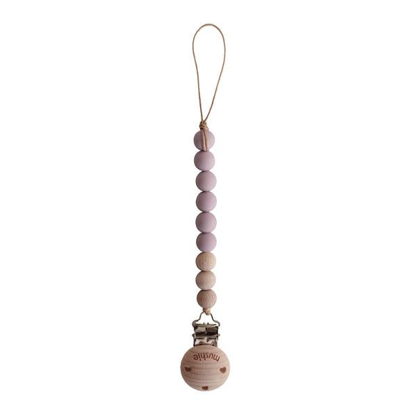 Mushie Pacifier Clip Cleo~ Mauve