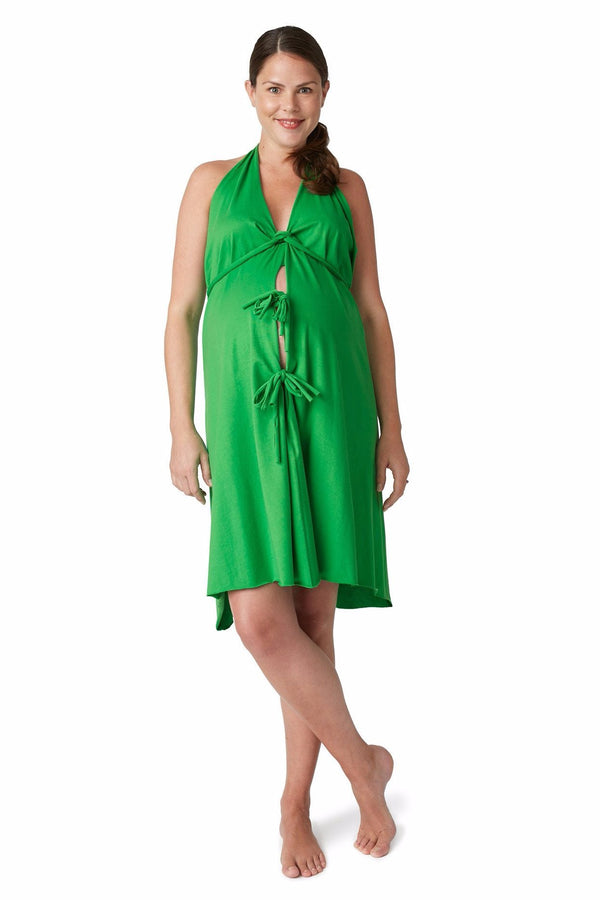 Pretty Pushers | Original Labor & Delivery Gown ~ Clover Green
