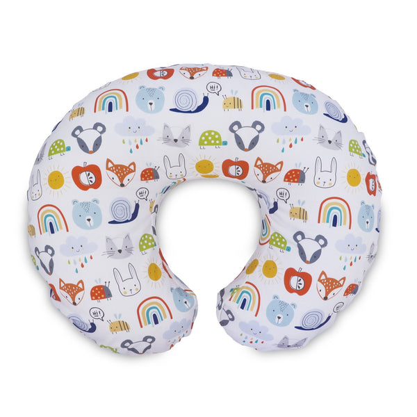 Boppy Original Slipcover ~ Colorful Animals and Rainbows