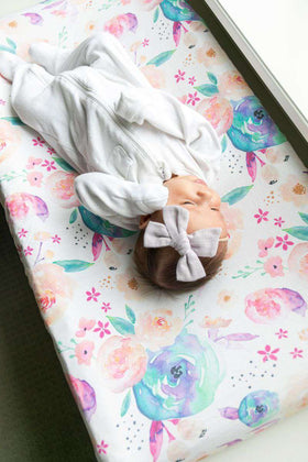 Copper Pearl | Premium Knit Diaper Changing Pad Cover ~ Bloom
