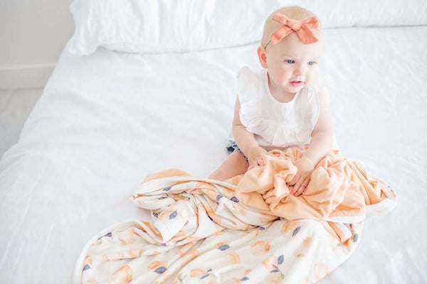 Copper Pearl | Three-Layer Baby Quilt ~ Caroline
